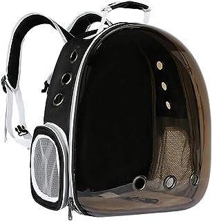 Atoz Create 宠物背带,猫 / 狗泡背包,宠物旅行包,小型空间宠物胶囊,航空公司批准的透气透明胶囊背包,适合旅行和户外使用(茶黑色)