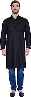 Maple Clothing 男式棉质长衫 Kurta 纯色印度传统服装