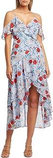 Bardot 女式雪纺花卉印花长裙