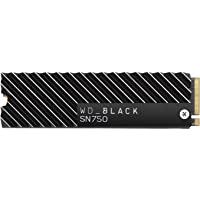 Western Digital WD 黑色 内置 固态硬盘 M.2-2280散热器 安装型号SN750 2TB NVMe…