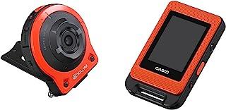 CASIO 卡西欧 EX-FR10 EXILIM 生活风格数字分离运动相机 14.1 MP,2 英寸液晶显示屏,1080p - 橙色
