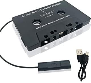 车载音频蓝牙 5.0 磁带接收器,卡式辅助适配器*内置麦克风