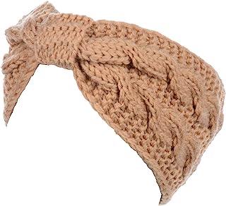 女式冬季波西米亚风经典圆珠蝴蝶结针织头巾