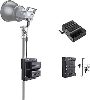 Sokani X60 电池适配器板,带 2 个 NP-F970 电池 D-tap 输出,适用于 Sony 索尼相机,X60 COB,X60 RGB 视频灯