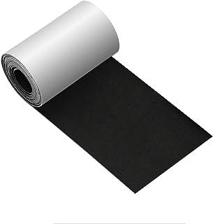 皮革修补带 3X60 英寸贴片皮革胶粘剂适用于沙发、汽车座椅、手提包、夹克、急救贴片(黑色 10.0)