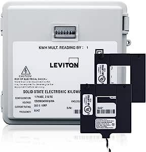 Leviton MO240-2W 户外表面安装机械计数器 120/208/240V 2P3W 200A 带 2 个分离式核心 CTs 迷你仪表套件