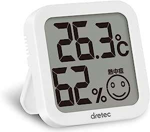 DRETEC 多利科 温湿度计 温度计 湿度计 白色 数字 大屏幕 应对暑热 小巧型 O-271WT
