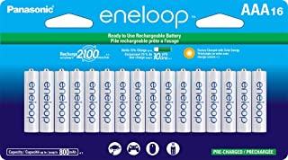 Panasonic 松下电器 BK-4MCCA16FA eneloop AAA 2100 循环镍氢预充电电池,16节