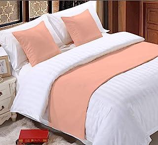 Kotton King 800 TC 纯色 3 件套床巾带 2 个枕套纯色围巾保护套沙发床装饰围巾适用于卧室酒店婚礼房(国王,桃红色)