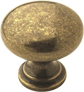 Amerock BP53023BB Allison Value 1-1/4 英寸(32 毫米)直径抛光黄铜橱柜把手
