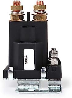 DollaTek 高电流启动继电器 500 AMP DC 12V 4 Pin SPST 汽车自动启动接触器双电池隔离器控制开/关开关