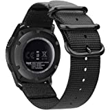 Galaxy 手表腕带 46mm / Gear S3,Fintie 软编织尼龙 22mm 表带可调节替换运动表带带金属扣…