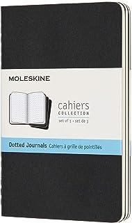 Moleskine Cahier Notizhefte (Punktraster, Pocket/A6, Kartoneinband) 3er Set schwarz