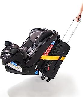 汽车座椅旅行腰带 | 行李带将您的汽车座椅和随身行李转换为机场汽车座椅背带 | 亮黄色 - 旅行解决方案