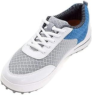 PGM 女士透气夏季高尔夫鞋,XZ081(粉色蓝色)