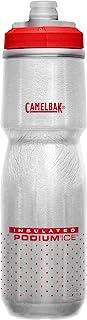 CamelBak Podium 冰绝缘自行车水瓶 – 挤压瓶 – 21 盎司(约 595.3 克),火红色
