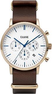 Cluse 男士指针式石英手表带皮革表带 CW0101502009