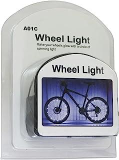 VERYHAOO LED 自行车轮灯带来乐趣和*警告,防水自行车辐条灯装饰(1 个轮胎包装),包括电池,送给儿童成人的有趣礼物