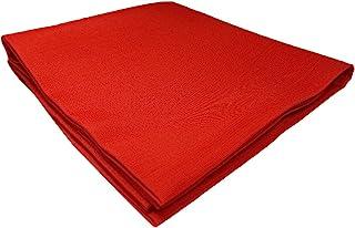 茶道具 帛纱(小方绸)人绢 盐濑小白发 红色