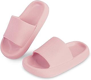 Menore 儿童幼儿枕头拖鞋 淋浴浴室拖鞋 速干露趾软防滑加厚夏季滑梯 海滩泳池屋 适合女孩和男孩 室内室外