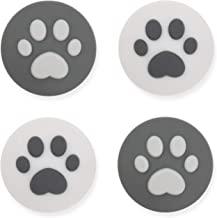 GeekShare 4 件套硅胶猫爪 Joy Con 拇指抓握套装 - 任天堂盖模拟拇指棒握把 - 操纵杆按钮盖适用于开关和开关简易控制器(灰色)