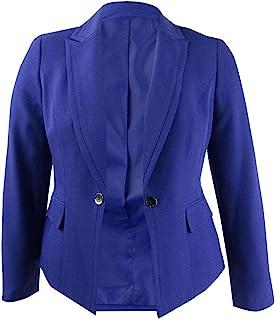 Kasper 女式娇小单扣缺口翻领外套