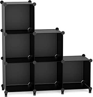TITIROBA 书架 收纳架 组装式 置物架 大容量 整理架收纳 箱 衣物收纳 钢性 室内装饰 简单组装 时尚 多用途 耐久性 节约空间 黑色 6盒 ZW-02 日亚限定