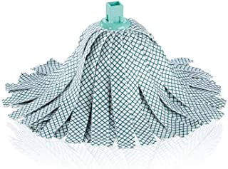 Leifheit 乐快 替换头 经典拖把 粘纤和聚酯纤维材质 适用于瓷砖和石地板上的顽固污渍 额外的粘纤 可在60°C水温下清洗 柔性拖把头条纹