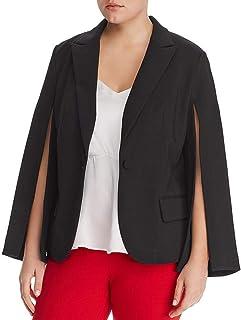 加大码开放式袖压缩西装外套黑色 16W