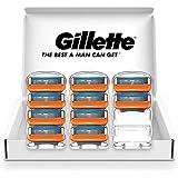 Gillette 吉列 Fusion 5+1 手册 剃须刀 剃须刀 男士 单品 含10个替换刀片