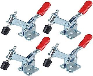 Orgrimmar 4 件套防滑 U 形 GH-201B 红色金属水平夹具快速释放工具手动工具 198磅拨动夹 5.9 * 3.74 * 1.41 inches