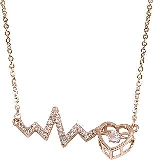 GOOKEY 女式玫瑰金立方氧化锆项链 | 精致颈链 - 蝴蝶项链 太阳项链 钥匙项链 心形项链 V 项链 鱼项链