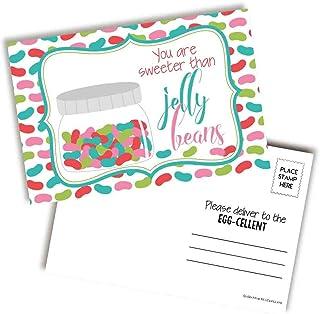 "You Are Sweeter Than Jelly Beans 可爱复活节和春季主题空白明信片,可发送给朋友和家人,4""x6"" 填充记事簿 AmandaCreation (100)"