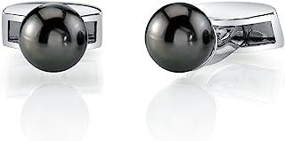 纯银塔希特南海养殖珍珠袖扣 - AAAA 质量