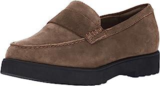 Clarks Bellevue Hazen Penny 女士绒面革乐福鞋