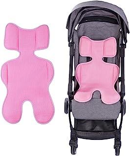 通用婴儿推车内衬 3D 网眼凉爽坐垫垫透气婴儿车婴儿车坐垫插入加厚海绵婴儿身体支撑垫垫垫床垫适用于婴儿车、婴儿椅和汽车座椅。