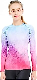 Catena 女式长袖泳衣,防紫外线**上衣泳衣游泳衬衫