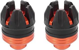 F FIERCE CYCLE 一对通用摩托车车轮前叉框架滑块垫保护盖橙色