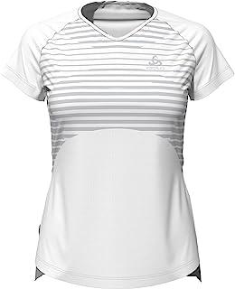 ODLO 女式 Bl 圆领 S/S Ceramicool Blackcom T 恤