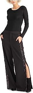 Rachel Roy 女式黑色拉链开叉晚礼服 尺码 4