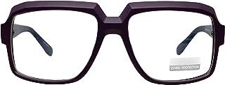 Big Square Horn Rim 眼镜 书呆子 眼镜 透明镜片 经典极客眼镜