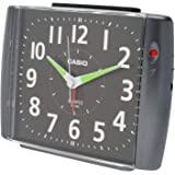 CASIO 卡西欧 闹钟 指针式 铃声 TQ-382-1JF 金属黑 12.3×16.0×8.0厘米
