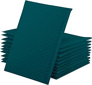 GSSUSA 15.24 x 25.40 厘米 50 件聚乙烯泡沫邮寄袋 带衬垫的邮寄袋 运输袋 礼品泡泡包装 森林绿