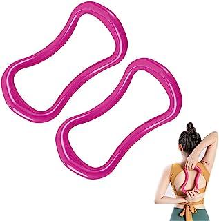 Nuo Ran 瑜伽环普拉提健身圈普拉提环背部弹力瑜伽环硬粉色和蓝色 2 件套
