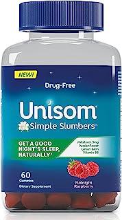 Unisom Simple Slumbers 入睡辅助软糖褪黑素 5 毫克,Midnight覆盆子味,60 粒