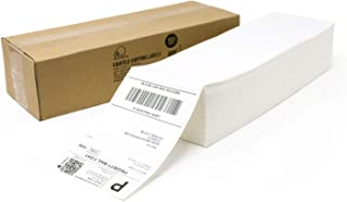 Buhbo 10.16cm x 15.24cm 直接热发运标签扇折叠 1000 Labels 白色