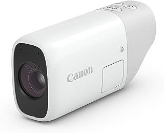 Canon 佳能 PowerShot ZOOM 袖珍相机,全自动,1200万像素传感器,3档变焦,4轴光学图像稳定器,全高清,USB-C,WLAN,蓝牙,白色