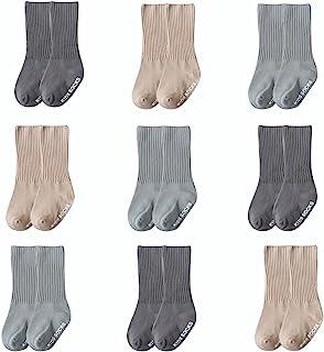 6 双装婴儿幼儿及膝袜可爱管袜子袜子适合婴儿男孩女孩儿童 8-36M