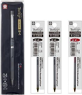 樱花彩色笔 多功能笔 Ballsign Premium 2+1 替芯套装 ブラック 替芯セットC