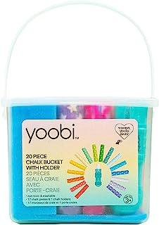 Yoobi 粉笔桶套装,20 件   包括 17 颗星星印花粉笔棒,1 个粉笔架,1 桶和 1 个盖子   *、可清洗且不含 PVC